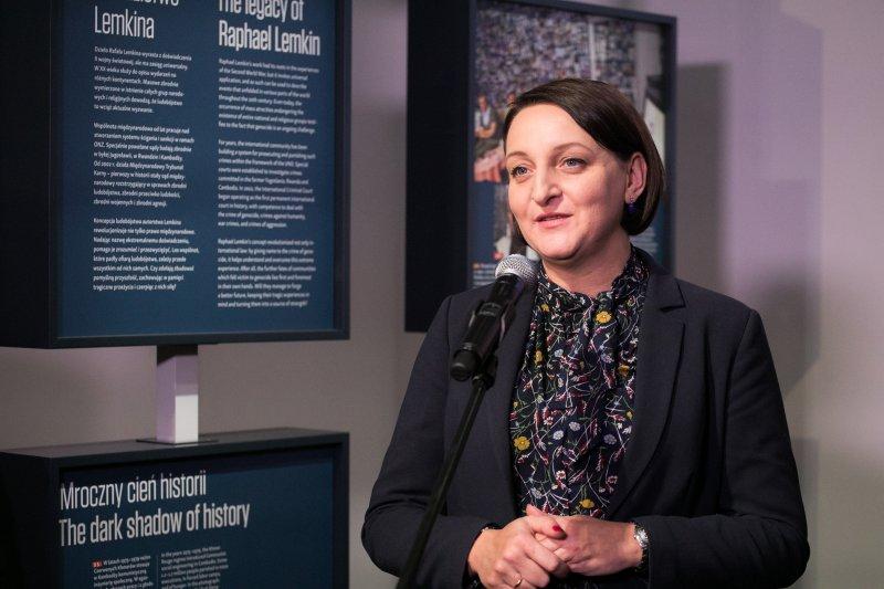 na zdjęciu wiceminister Magdalena Gawin