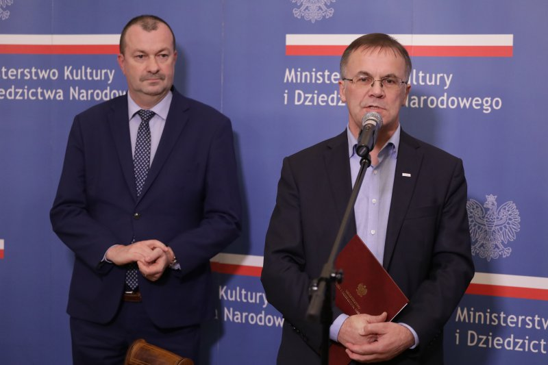na zdjęciu wiceminister Sellin i wicemarszałek Raboszuk