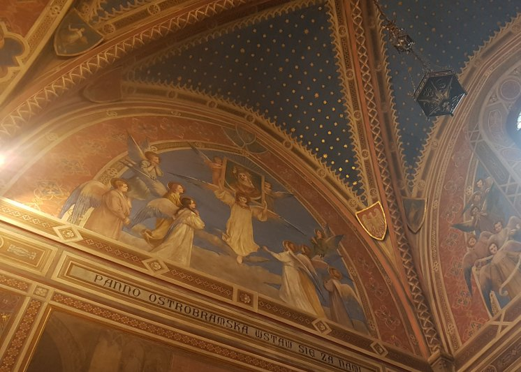 na zdjęciu freski w Kaplicy