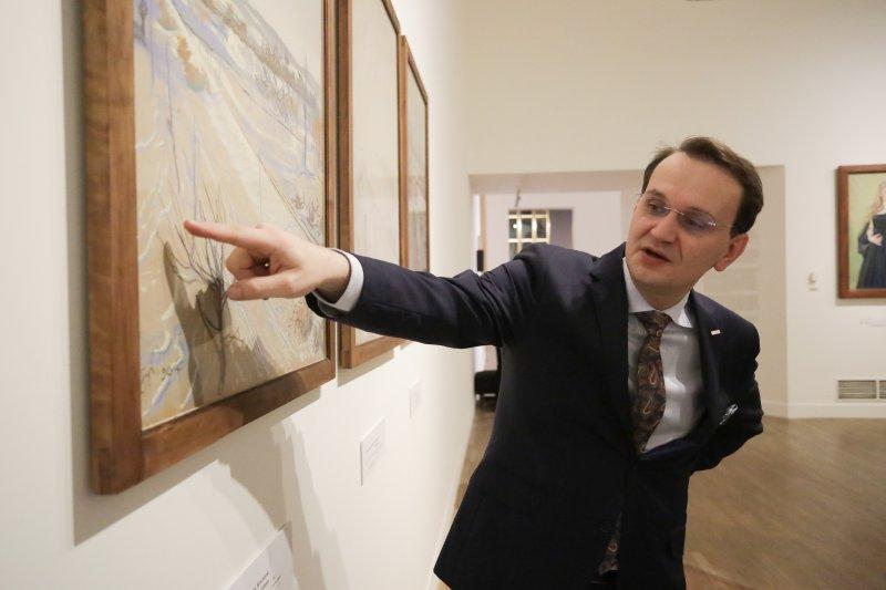 Na zdjęciu: Wicepremier Piotr Gliński w  Muzeum Narodowym w Krakowie