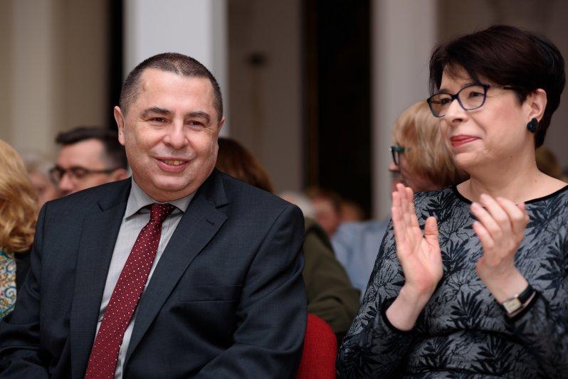 na zdjęciu: Minister W. Zwinogrodzka i B.Wildstein. autor zdjęcia: Jakub Kaczmarczyk/PAP