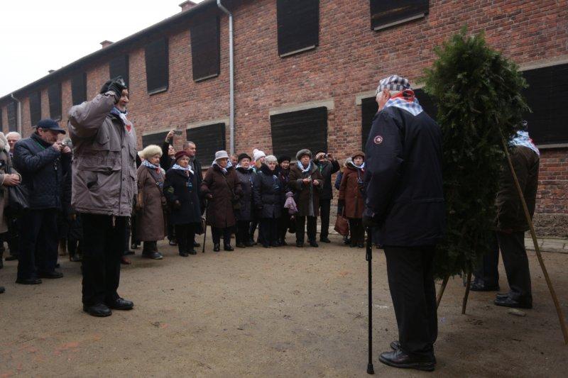 Obchody 73. rocznicy wyzwolenia niemieckiego nazistowskiego obozu koncentracyjnego i zagłady Auschwitz. autor zdjęcia: Jarosław Praszkiewicz