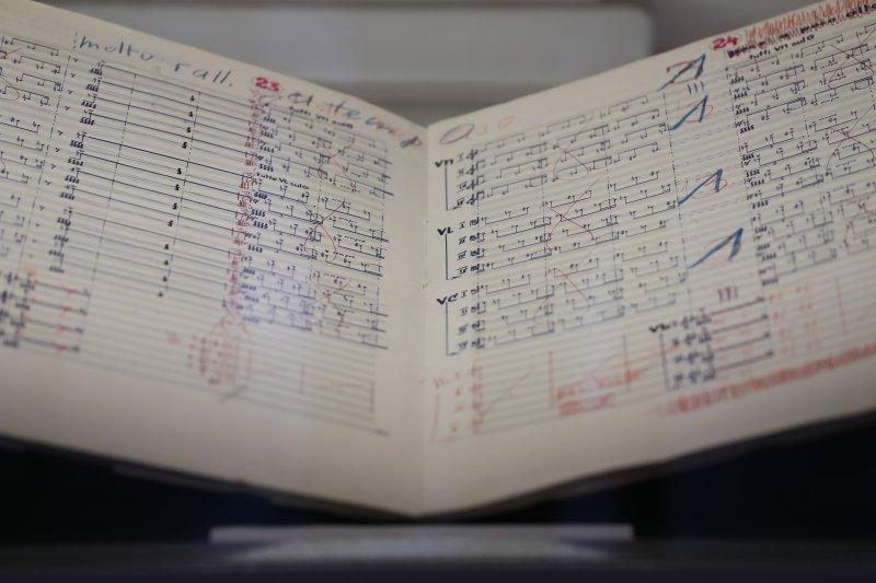 na zdjęciu: Rękopis nutowy H.M. Góreckiego autor zdjęcia: Danuta Matloch