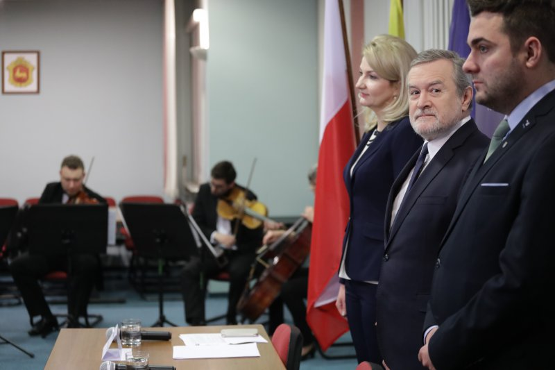 Podpisanie porozumienia na współprowadzenie przez MKiDN Filharmonii w Łomży - występ artystyczny. autor zdjęcia: Danuta Matloch