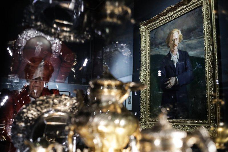 Minister Sellin w Muzeum Narodowym na wernisażu wystawy  poświęconej I. Paderewskiemu