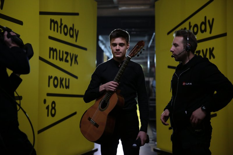Na zdjęciu: Uczestnik konkursu Młody Muzyk Roku