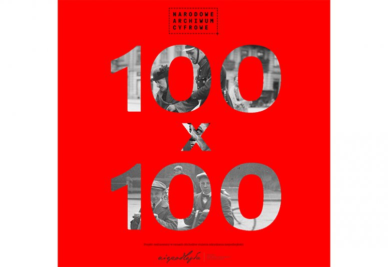 NA zdjęciu: Plakat projektu 100 na 100