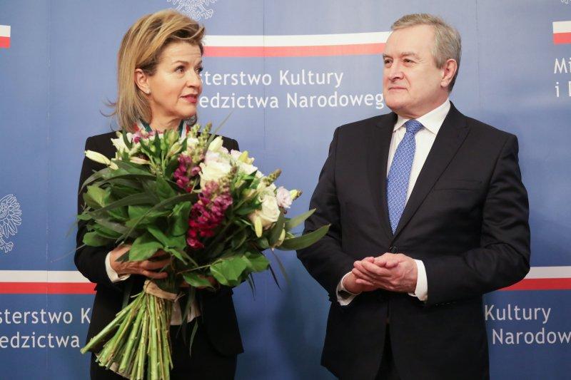 na zdjęciu uroczystość uhonorowania Anne Sophie-Mutter autor zdjęcia: Danuta Matloch