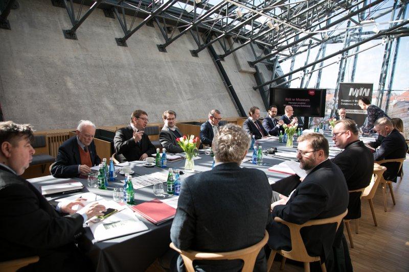 na zdjęciu posiedzenie Rady Muzeum II Wojny Światowej w Gdańsku. autor zdjęcia Mikołaj Bujak