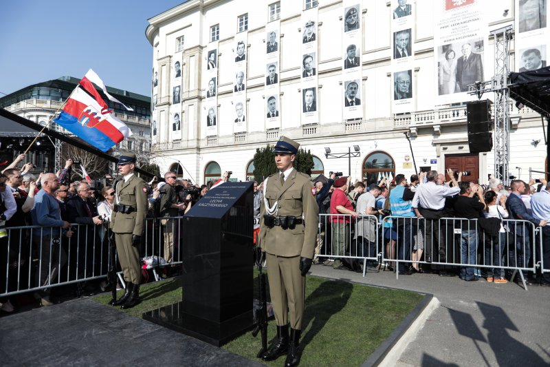 na zdjęciu kamień w miejscu,  gdzie powstanie pomnik prezydenta Lecha Kaczyńskiego autor zdjęcia: Danuta Matloch