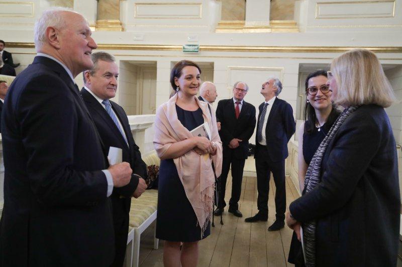 Na zdjęciu: Otwarcie konferencji poświęconej odbudowie światowego dziedzictwa