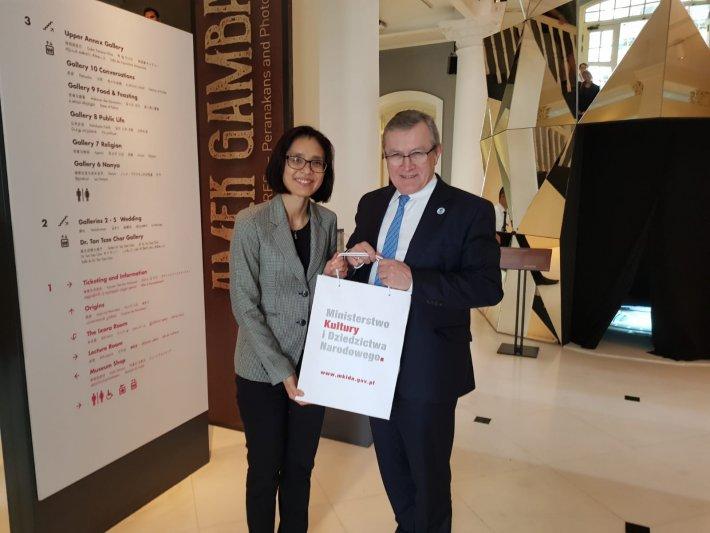 Na zdjęciu: Wizyta w Peranakan Muzeum i spotkanie z CEO National Heritage Board p. Chang Hwee Nee