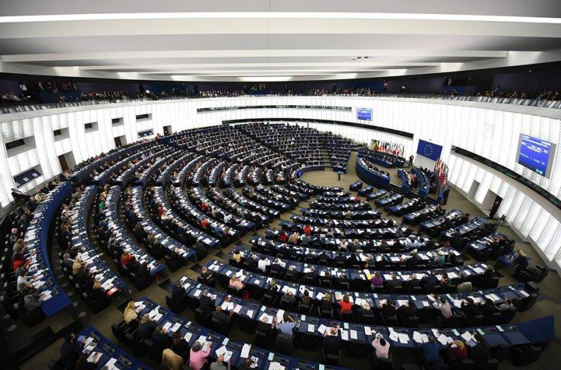 na zdjęciu sala Parlamentu Europejskiego