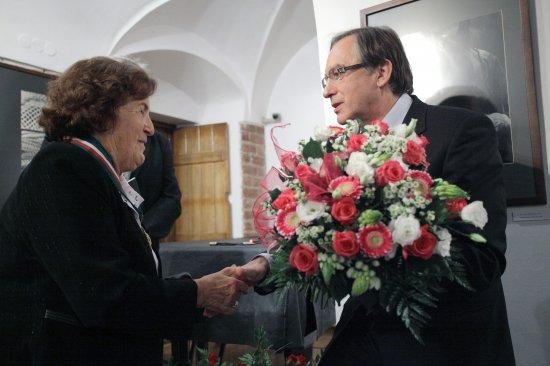 Złota Gloria Artis dla Krystyny Łyczywek
