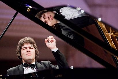 Lukas Geniušas podczas przesłuchań 16. Konkursu Chopinowskiego w 2010 roku,  fot. Chopin Express