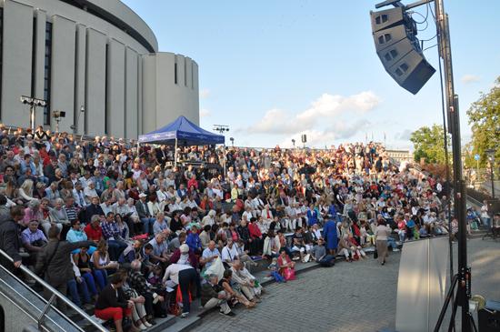 Widownia w amfiteatrze przed Operą Novą w Bydgoszczy/mat.prasowe Opera Nova w Bydgoszczy