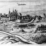 Panorama miasta Bartenstein (obecnie Bartoszyce, pow. loco, Polska) na starym sztychu (zbiory Instytutu Sztuki PAN w Warszawie).